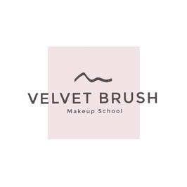 Логотип школы мэйкапа Velvet Brush