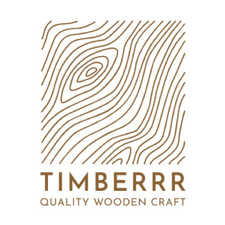 Timberrr wooden craft logo