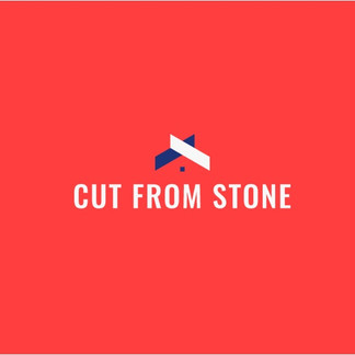 Cut from stone logo