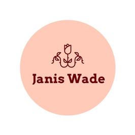 Logo von Janis Wade mit einer Rose