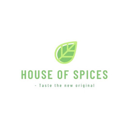 House of spices の緑の葉の絵が描かれたロゴ