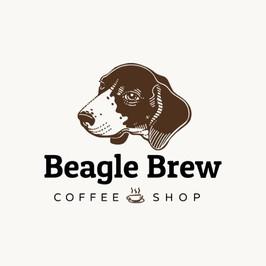 Beagle Brew coffee shop logo