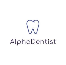Logo von Alpha dentist mit einem Zahn