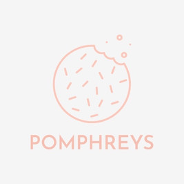 Pomphreys logo featuring a cookie