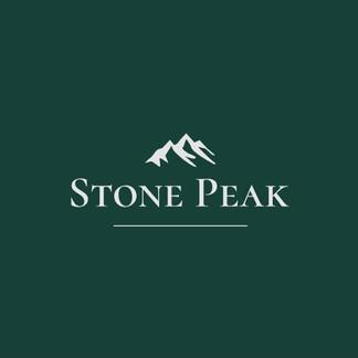 Stone peak logo with mountain range