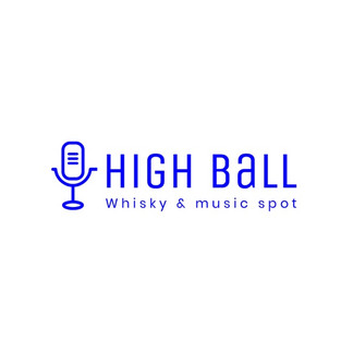 High ball logo with microphone