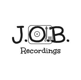 Logo von J.O.B. recordings mit einem Plattenspieler-Icon