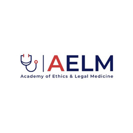 Logo von ALEM, der Academy of Ethics & Legal Medicine mit Stethoscope
