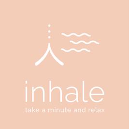 Logo von Inhale mit Schriftzug: Take a minute to relax