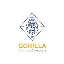 Gorilla couture chocolate のゴリラの絵が描かれたロゴ