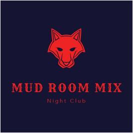 Logo vom Might Club  Mud room mix mit einem Wolf