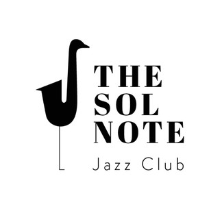 The sol note jazz club logo with saxophone