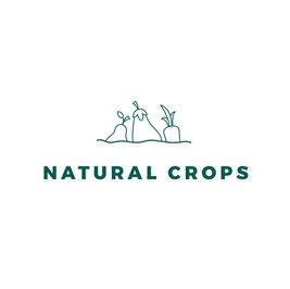 Natural crops logo with root vegetables