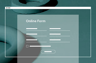 Image of an website using an online form.