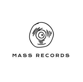 Logo von Mass records mit Schallplatte