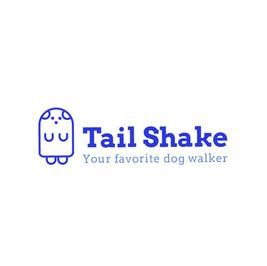 Логотип Tail Shake Dog Walker с изображением собаки