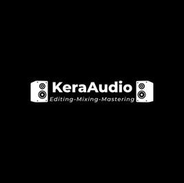 Logo von Kera audio mit zwei Lautsprechern