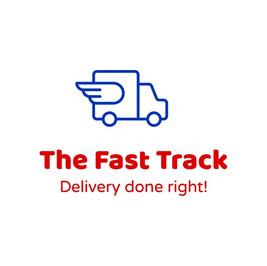 Логотип The Fast Track с изображением крылатого грузовика