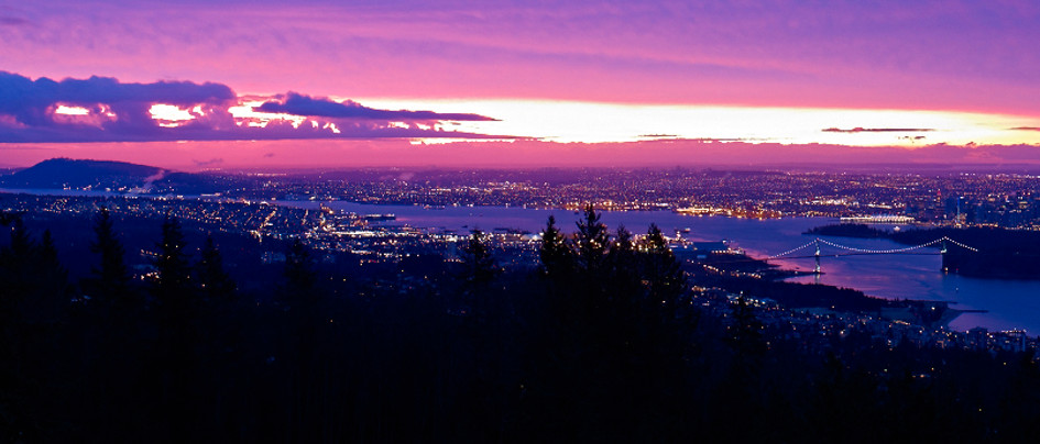 Vancouver from hills