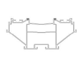 Draagbalk aluminium 160 x 80 x 6000 mm
