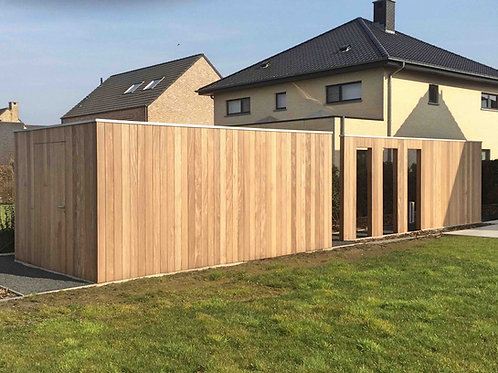 hout voor tuinhuiswand in thermo ayous planchet