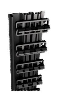 eindsteun met clipsen / planken 134-138mm