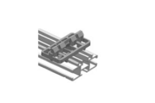 fixatie rail + clips 50 cm