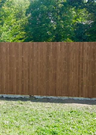 Thermowood tuinwand blokprofiel verticaal