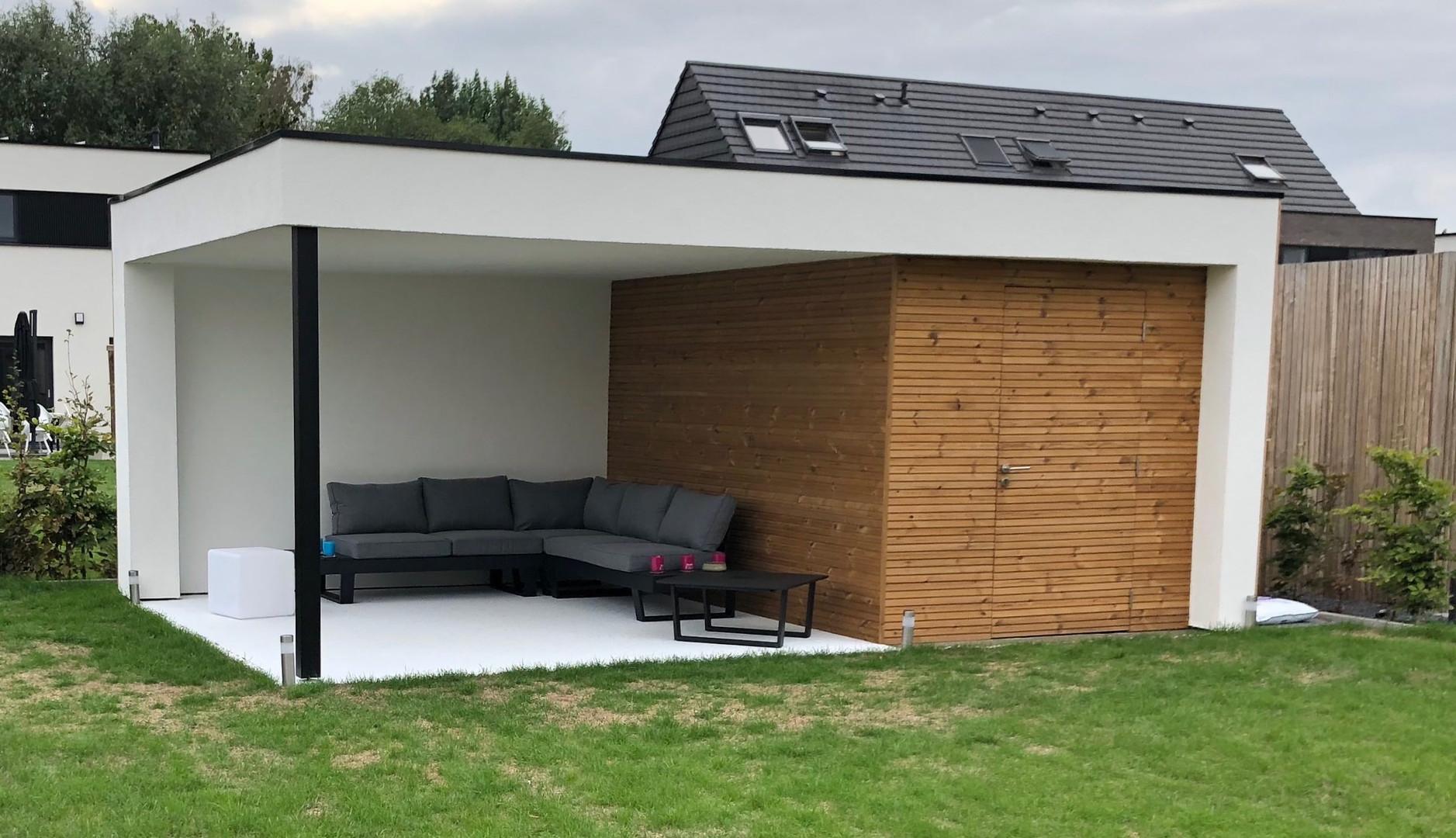 modern tuinhuis met witte crepi .jpg