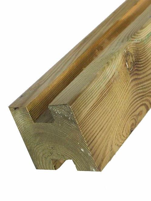geïmpregneerde houten gleufpaal 9 x 9