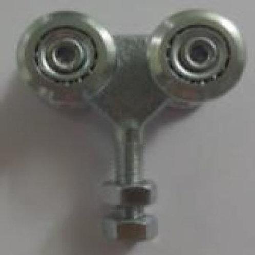 Viervoudig wielenblok met open lager voor schuifpoorten