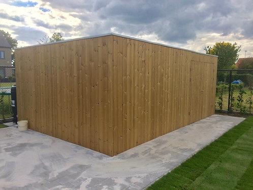 hout voor tuinhuiswand in thermo grenen planchet