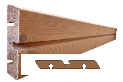 thermo den geborsteld plank met groef (SILVA)