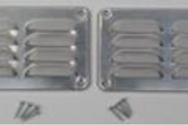 ventilatierooster 130 x 90 x 1 mm - alu