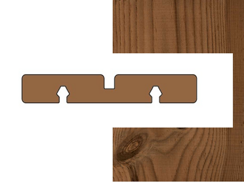 thermo den geborsteld plank met groef (ANTA)