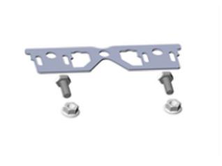 aanpasbaar verbindingsplaatje voor rails met variabele hoek, incl. bouten