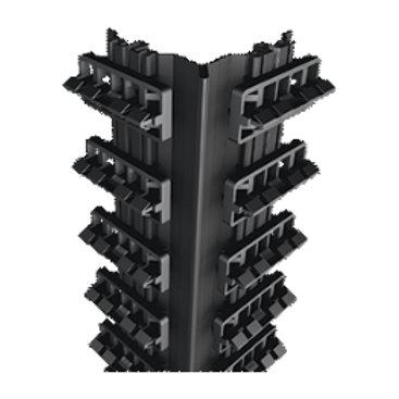 binnenhoeksteun met clipsen in aluminium planken 52mm
