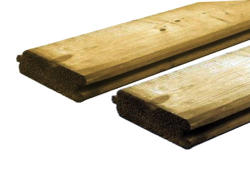 geïmpregneerde grenen blokhutprofiel