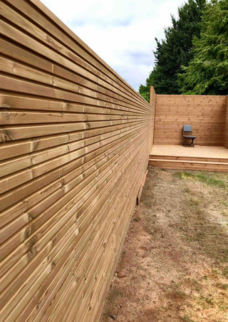 Thermowood grenen triple tuinafsluiting