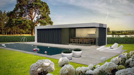 poolhouse met zwart gebrand hout .jpg