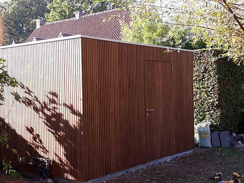 hout voor tuinhuiswand in thermo essen triple
