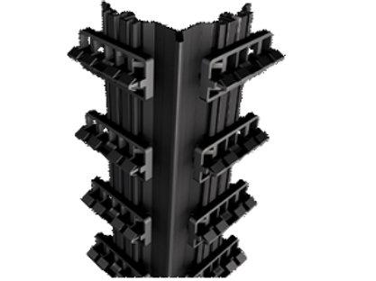 binnenhoeksteun met clipsen in aluminium / planken 134- 138mm