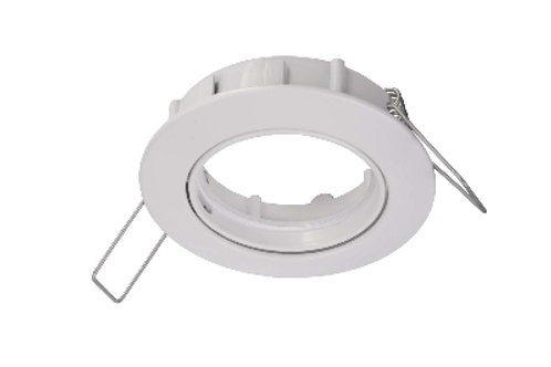 richtbare inbouwspot 230V 50W GU10 diam83mm wit vlinderv excl lamp