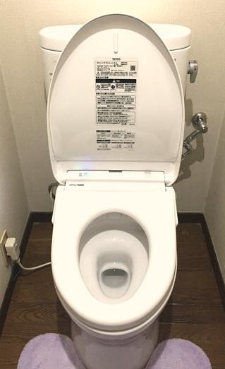 トイレの機器が替わりました。