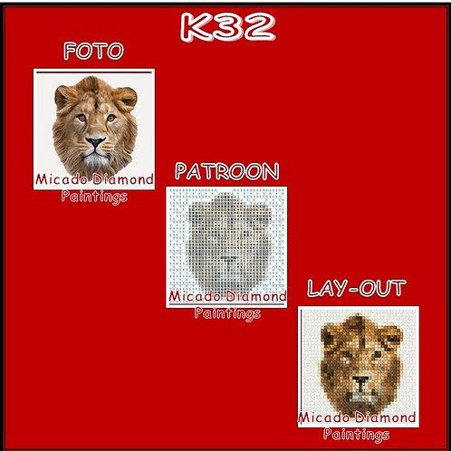 K32 MET RONDE OF VIERKANTE STEENTJES