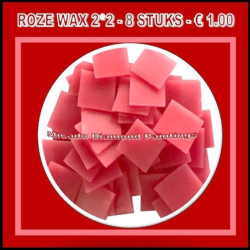 WAX ROZE 2*2 8 STUKS
