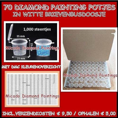 70 DIAMOND PAINTING POTJES