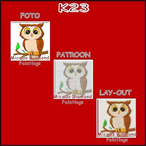 K23 MET RONDE OF VIERKANTE STEENTJES