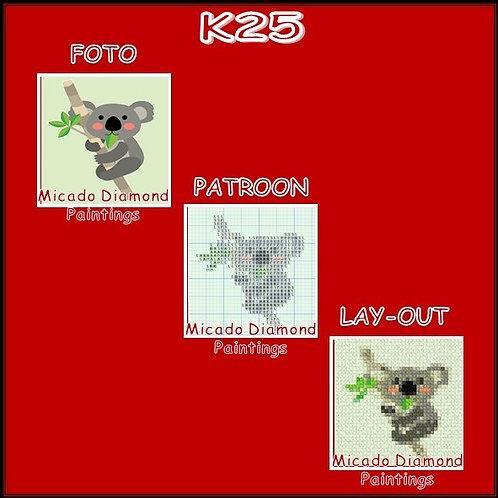 K25 MET RONDE OF VIERKANTE STEENTJES