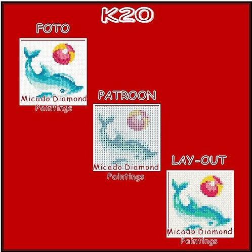 K20 MET RONDE OF VIERKANTE STEENTJES